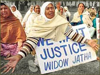 Widows seeking justice